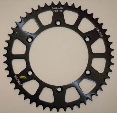 Sunstar 520 Rear Sprocket Triplestar Aluminum 49 Teeth Black 5-355949BK